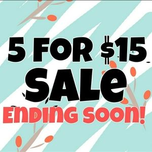 5 Items For Only $15! Get Your Favorite Pi…